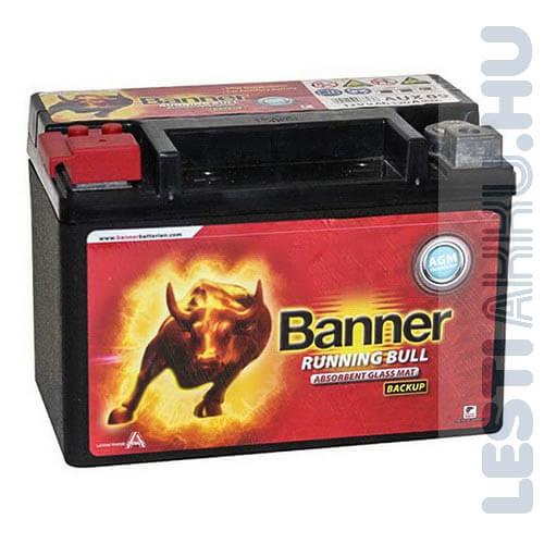 Banner Running Bull Back Up AGM Kiegészítő Akkumulátor 12V 9Ah Bal+ (50900)