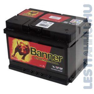 Banner Starting Bull Autó Akkumulátor 12V 55Ah 450A Jobb+ (55519)