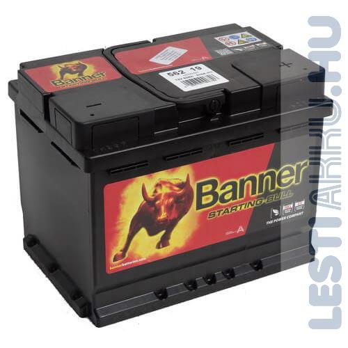 Banner Starting Bull Autó Akkumulátor 12V 62Ah 480A Jobb+ (56219)