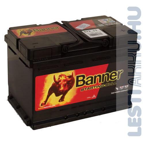 Banner Starting Bull Autó Akkumulátor 12V 72Ah 650A Jobb+ (57212)