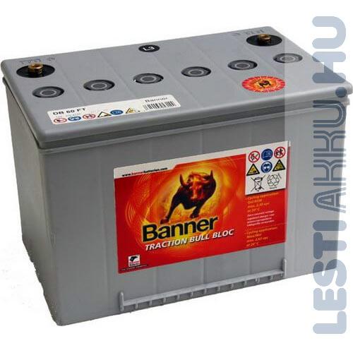 Banner Traction Bloc Dry Bull kerekesszék akkumulátor DB 60 FT 12V 60Ah jobb+