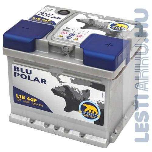 Bären Blu Polar Autó Akkumulátor 12V 44Ah 420A Jobb+ (L1B 44P)