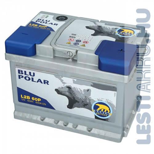 Bären Blu Polar Autó Akkumulátor 12V 60Ah 600A Jobb+ (L2B 60P)