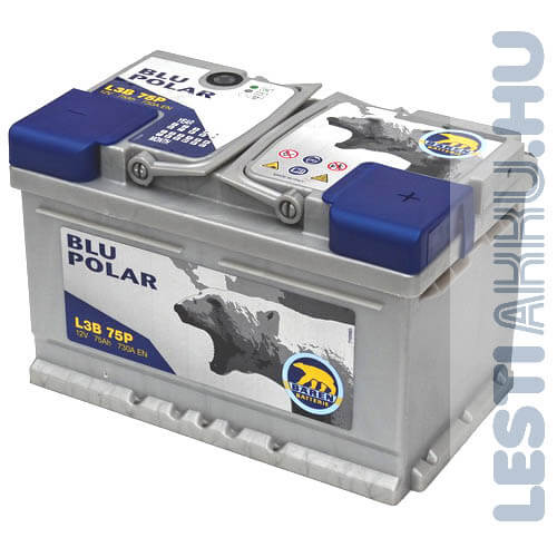 Bären Blu Polar Autó Akkumulátor 12V 75Ah 730A Jobb+ (L3B 75P)