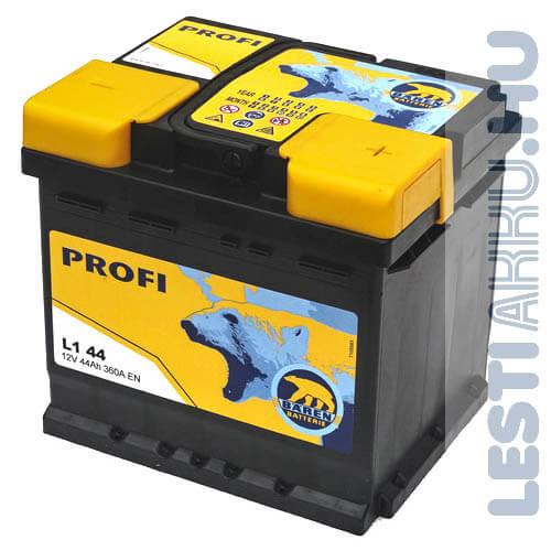 Bären Profi Autó Akkumulátor 12V 44Ah 360A Jobb+ (L1 44)