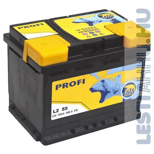 Bären Profi Autó Akkumulátor 12V 55Ah 480A Jobb+ (L2 55)