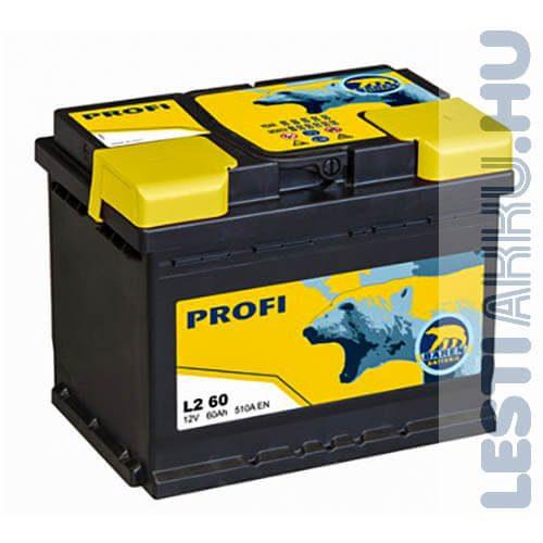 Bären Profi Autó Akkumulátor 12V 60Ah 510A Jobb+ (L2 60)