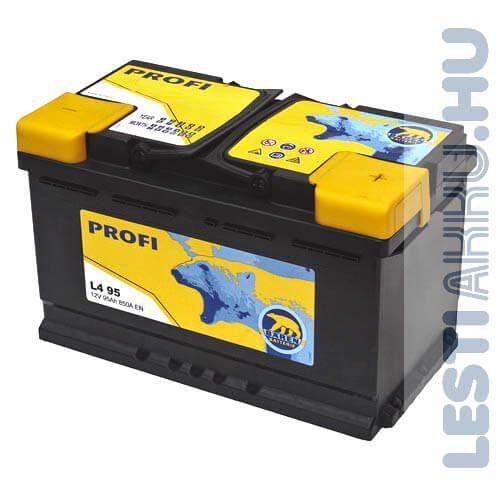 Bären Profi Autó Akkumulátor 12V 95Ah 850A Jobb+ (L4 95)