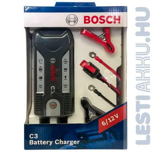 Bosch C3 Akkumulátor töltő 6V/12V 3