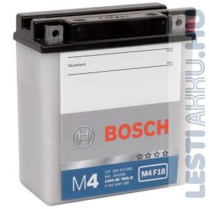 BOSCH M4 F18 Motor Akkumulátor YB5L-B (12N5-3B) 12V 4Ah 60A Jobb+ (0092M4F180)
