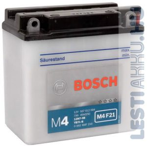 BOSCH M4 F21 Motor Akkumulátor YB7L-B (12N7-3B) 12V 7Ah 74A Jobb+ (0092M4F210)