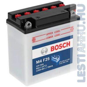 BOSCH M4 F25 Motor Akkumulátor YB9-B (12N9-4B-1) 12V 9Ah 85A Bal+ (0092M4F250)