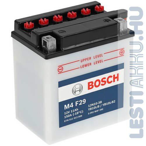 BOSCH M4 F29 Motor Akkumulátor YB10L-B2 (12N10-3B) 12V 11Ah 150A Jobb+ (0092M4F290)