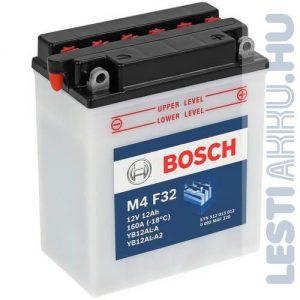 BOSCH M4 F32 Motor Akkumulátor YB12AL-A2 12V 12Ah 160A Jobb+ (0092M4F320)