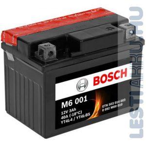 BOSCH M6 001 Motor Akkumulátor YT4L-BS (YTX4L-BS) 12V 3Ah 40A Jobb+ (0092M60010)
