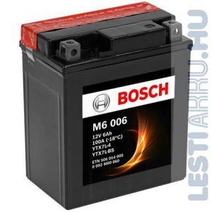 BOSCH M6 006 Motor Akkumulátor YTX7L-BS 12V 6Ah 100A Jobb+ (0092M60060)