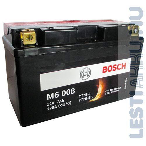BOSCH M6 008 Motor Akkumulátor YT7B-4 (YT7B-BS) 12V 7Ah 120A Bal+ (0092M60080)