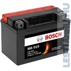 BOSCH M6 010 Motor Akkumulátor YTX9-BS 12V 8Ah 135A Bal+ (0092M60100)