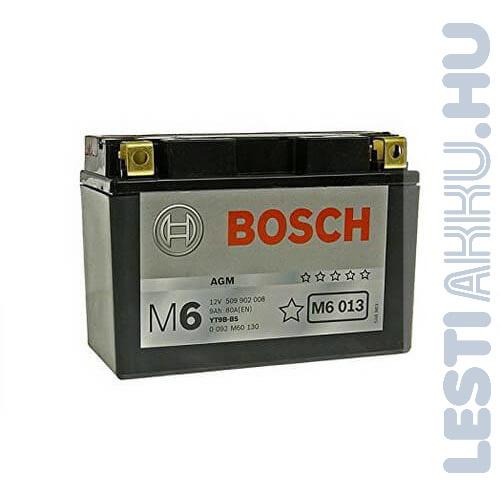 BOSCH M6 013 Motor Akkumulátor YT9B-4 (YT9B-BS) 12V 8Ah 115A Bal+ (0092M60130)