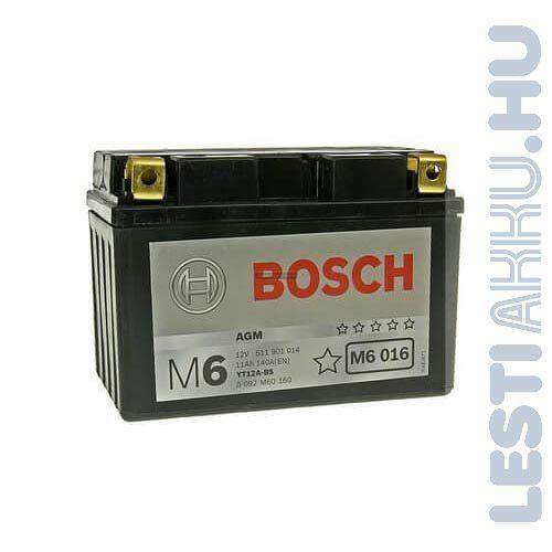 BOSCH M6 016 Motor Akkumulátor YT12A-4 (YT12A-BS) 12V 11Ah 160A Bal+ (0092M60160)
