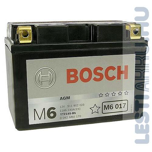 BOSCH M6 017 Motor Akkumulátor TTZ14S-4 (YTZ14S-BS) 12V 11Ah 230A Bal+ (0092M60170)