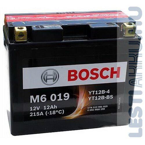 BOSCH M6 019 Motor Akkumulátor YT12B-4 (YT12B-BS) 12V 10Ah 215A Bal+ (0092M60190)