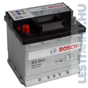 BOSCH Silver S3 Autó Akkumulátor 12V 45Ah 400A Bal+ (0092S30030)