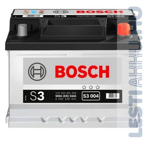 BOSCH Silver S3 Autó Akkumulátor 12V 53Ah 500A Jobb+ (0092S30041)