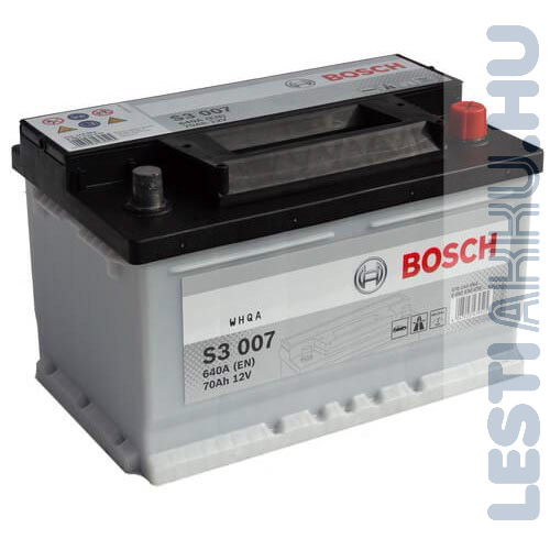 Bosch Silver S3 Auto Akkumulator 12v 70ah 640a Alacsony Jobb 0092s30070