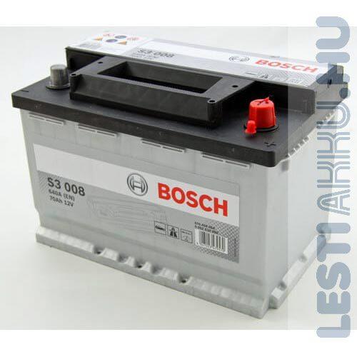 BOSCH Silver S3 Autó Akkumulátor 12V 70Ah 640A Normál Jobb+ (0092S30080)