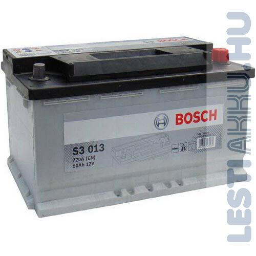 BOSCH Silver S3 Autó Akkumulátor 12V 90Ah 720A Jobb+ (0092S30130)
