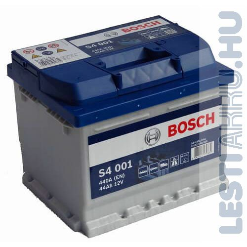 BOSCH Silver S4 Autó Akkumulátor 12V 44Ah 440A jobb+ (0092S40010)