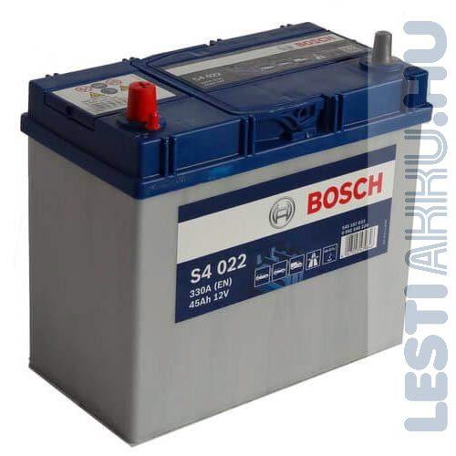 BOSCH Silver S4 Autó Akkumulátor 12V 45Ah 330A Japán Bal+ (0092S40220)