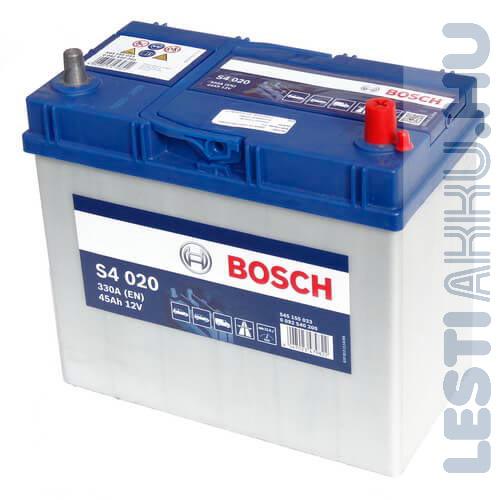 BOSCH Silver S4 Autó Akkumulátor 12V 45Ah 330A Japán Jobb+ (0092S40200)