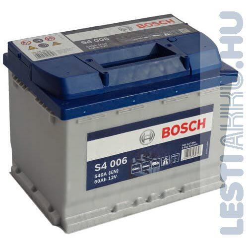 BOSCH Silver S4 Autó Akkumulátor 12V 60Ah 540A Bal+ (0092S40060)