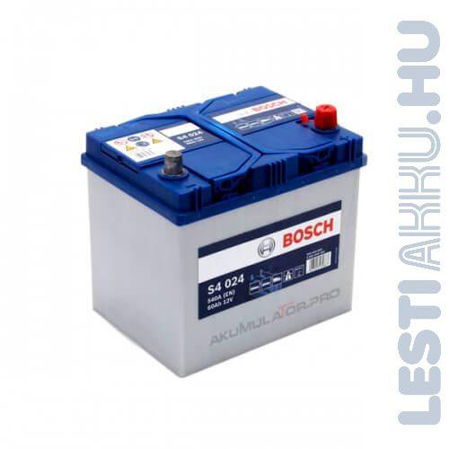 BOSCH Silver S4 Autó Akkumulátor 12V 60Ah 540A Japán Jobb+ (0092S40240)