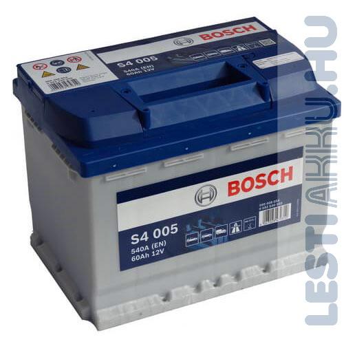 BOSCH Silver S4 Autó Akkumulátor 12V 60Ah 540A Normál Jobb+ (0092S40050)