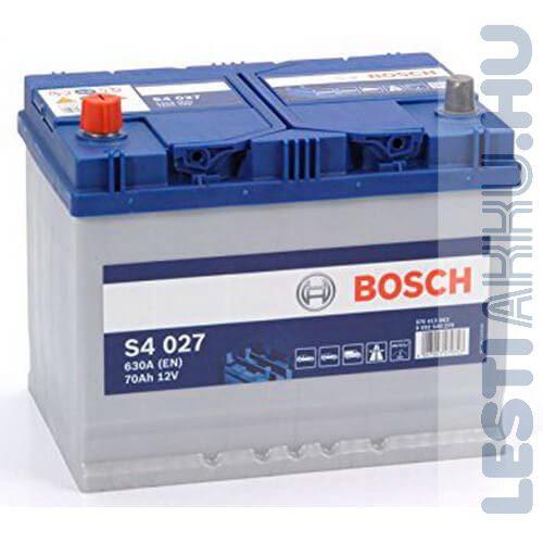 BOSCH Silver S4 Autó Akkumulátor 12V 70Ah 630A Japán Bal+ (0092S40270)