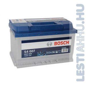 BOSCH Silver S4 Autó Akkumulátor 12V 72Ah 680A Jobb+ (0092S40070)