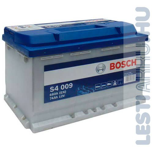 BOSCH Silver S4 Autó Akkumulátor 12V 74Ah 680A Bal+ (0092S40090)