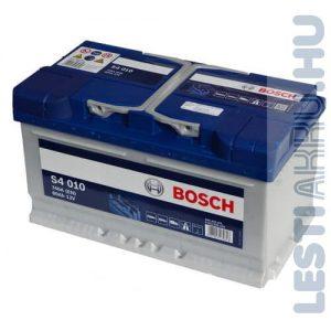 BOSCH Silver S4 Autó Akkumulátor 12V 80Ah 740A Alacsony Jobb+ (0092S40100)