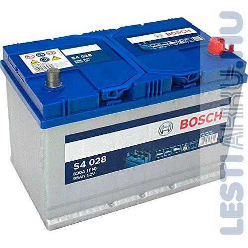BOSCH Silver S4 Autó Akkumulátor 12V 95Ah 830A Japán Jobb+ (0092S40280)