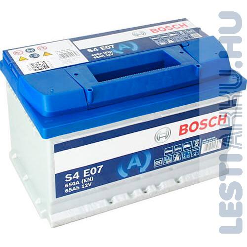 BOSCH Silver S4 EFB Autó Akkumulátor 12V 65Ah 650A Jobb+ (0092S4E070)