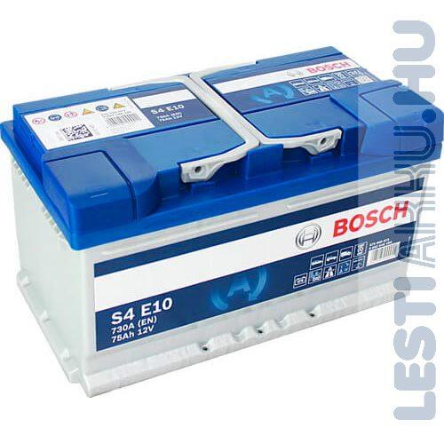 BOSCH Silver S4 EFB Autó Akkumulátor 12V 75Ah 730A Jobb+ (0092S4E100)