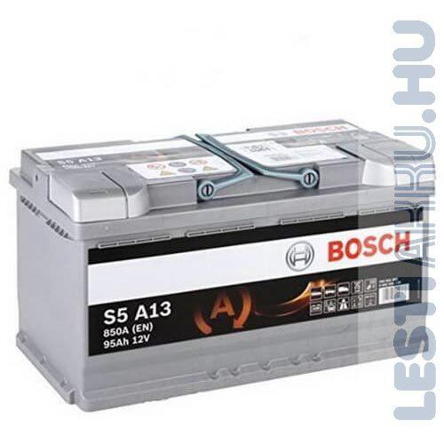 BOSCH Silver S5 AGM Autó Akkumulátor 12V 95Ah 850A Jobb+ (0092S5A130)
