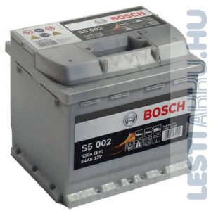 BOSCH Silver S5 Autó Akkumulátor 12V 54Ah 530A Jobb+ (0092S50020)