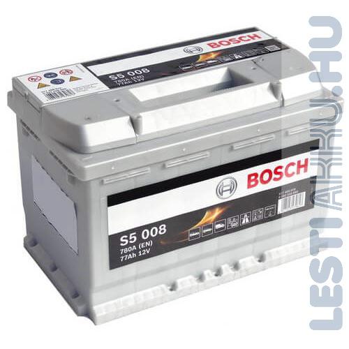 BOSCH Silver S5 Autó Akkumulátor 12V 77Ah 780A Jobb+ (0092S50080)