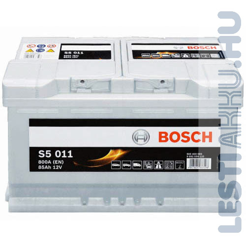 BOSCH Silver S5 Autó Akkumulátor 12V 85Ah 800A Normál Jobb+ (0092S50110)