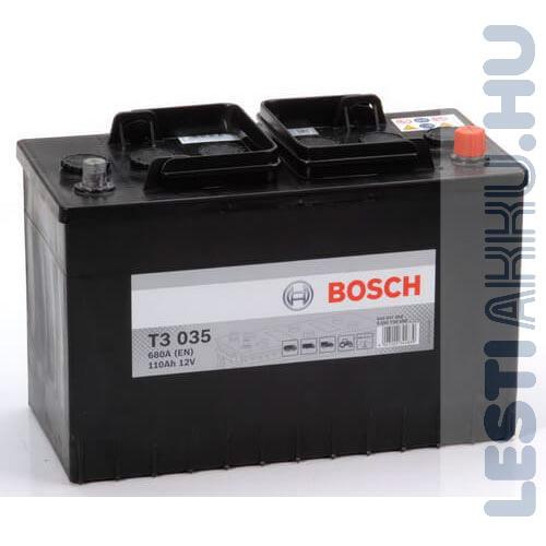 BOSCH T3 035 Teherautó Akkumulátor 12V 110Ah 680A IVECO Jobb+ (0092T30350)