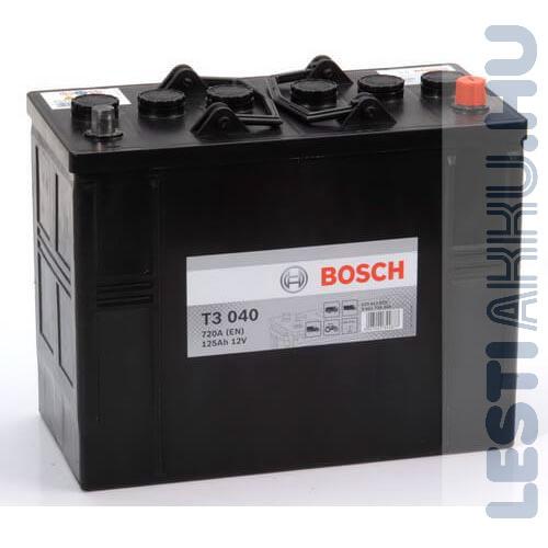 BOSCH T3 040 Teherautó Akkumulátor 12V 125Ah 720A JCB Jobb+ (0092T30400)